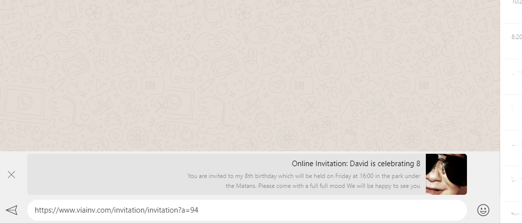 sending your onlinr invitation to your guests