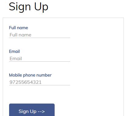 Sign Up to viainv.com website